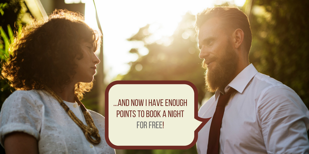 man who earn enough points to get a free night