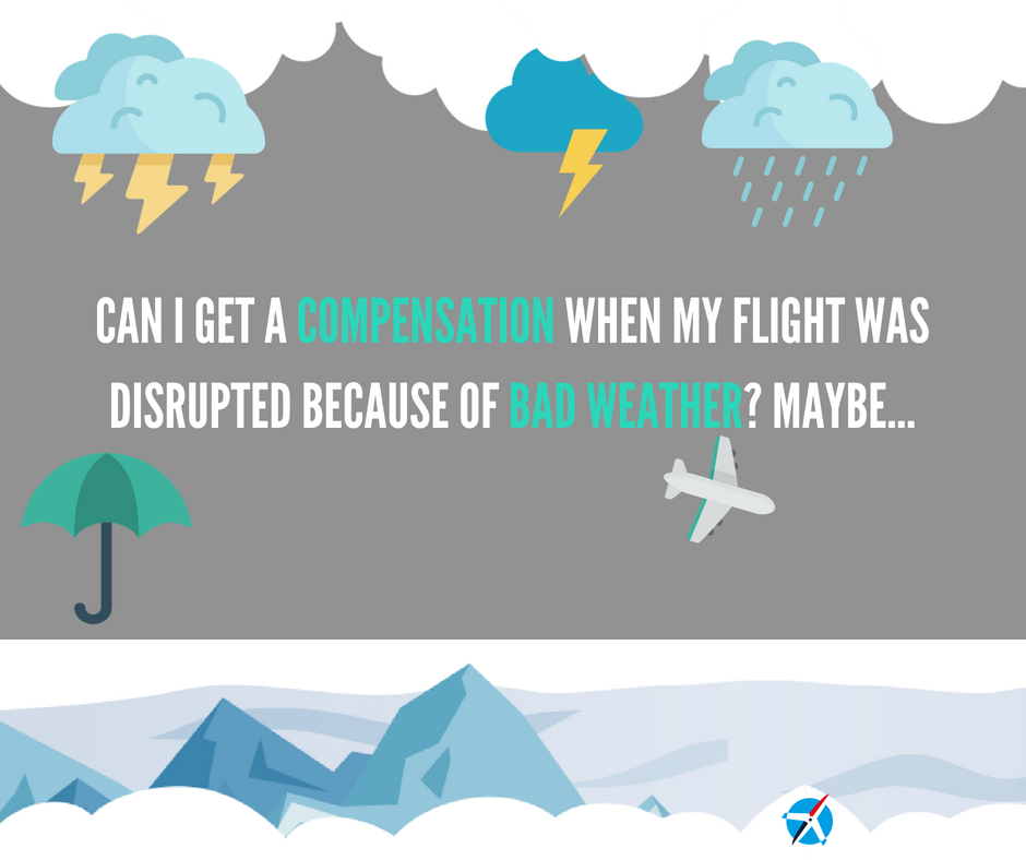 Can I Get a Compensation When my Flight was Delayed or Canceled because of Bad Weather? Maybe.